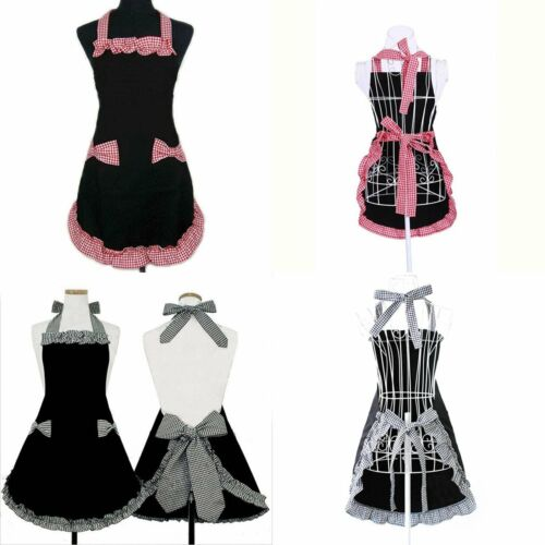 Cooking Aprons Princess Housemaid Role Playing Cosplay Costume Apron Bowknots