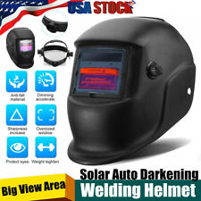 Solar Mig Mma Electric Auto Darkening Mask Helmet Welder Cap Welding Wide Shade