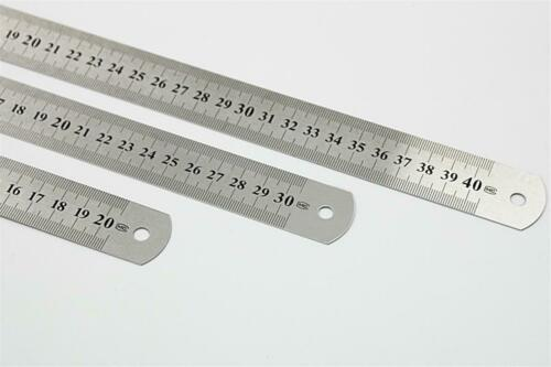 Metal Ruler Stainless Steel Metric Rule Precision Double Sided Measuring Tool