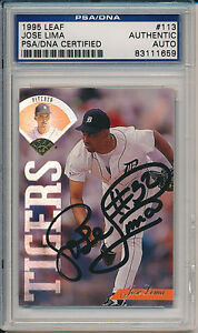 1995-Leaf-Baseball-Jose-Lima-Signed-Card-113-PSA-DNA-Auto-Tigers-1659