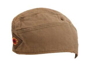 100% Vrai Men's Vintage Vert Militaire Allemand Style Chapeau Bonnet Medium-afficher Le Titre D'origine Remise En Ligne