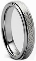Boxed Tungsten Carbide Celtic Mens Wedding Engagement Band Ring Unisex