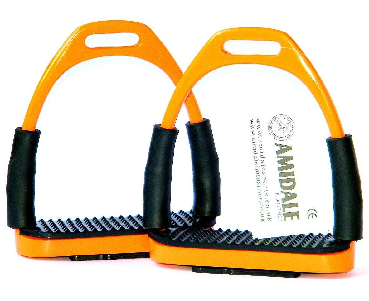 Flexi Sicurezza Staffe Equitazione Ferri Arancione Farbee da amidale BNWT