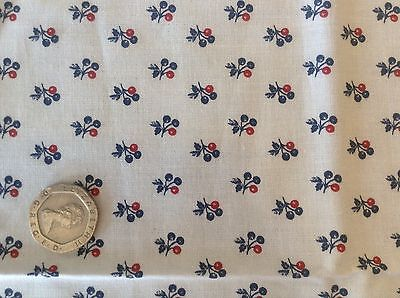 Michael Miller Mini Fleur Floral Black and White Red Cotton Quilting Fabric FQ