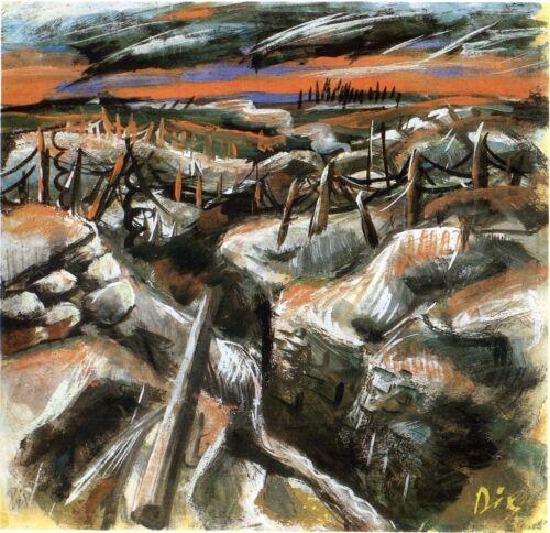 Otto Dix War Prints Art Print 1917 Trenches