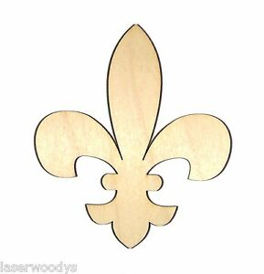 Fleur-De-Lis-Unfinished-Wood-Shape-Cut-Out-FDL68-Crafts-Lindahl-Woodcrafts
