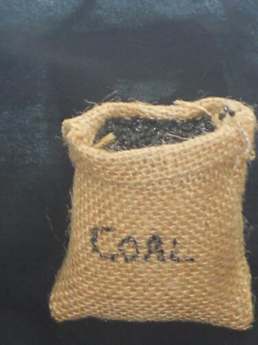 échelle 1:12 # S # Sac de charbon ouverte poupée//Maison de Poupée miniature P.D