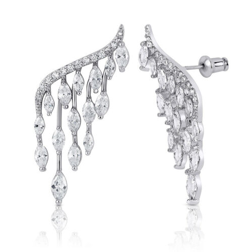 Womens Classic Unique Angel Wings Fashion EARRINGS Silver Plated Quality Jewelry