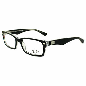 ab9b0415bd5 Ray-Ban Glasses Frames 5206 2034 Top Black on Transparent 52mm ...