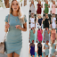 AU-Women-039-s-Irregular-Bodycon-Short-Sleeve-Sleeveless-Holiday-Party-OL-Mini-Dress