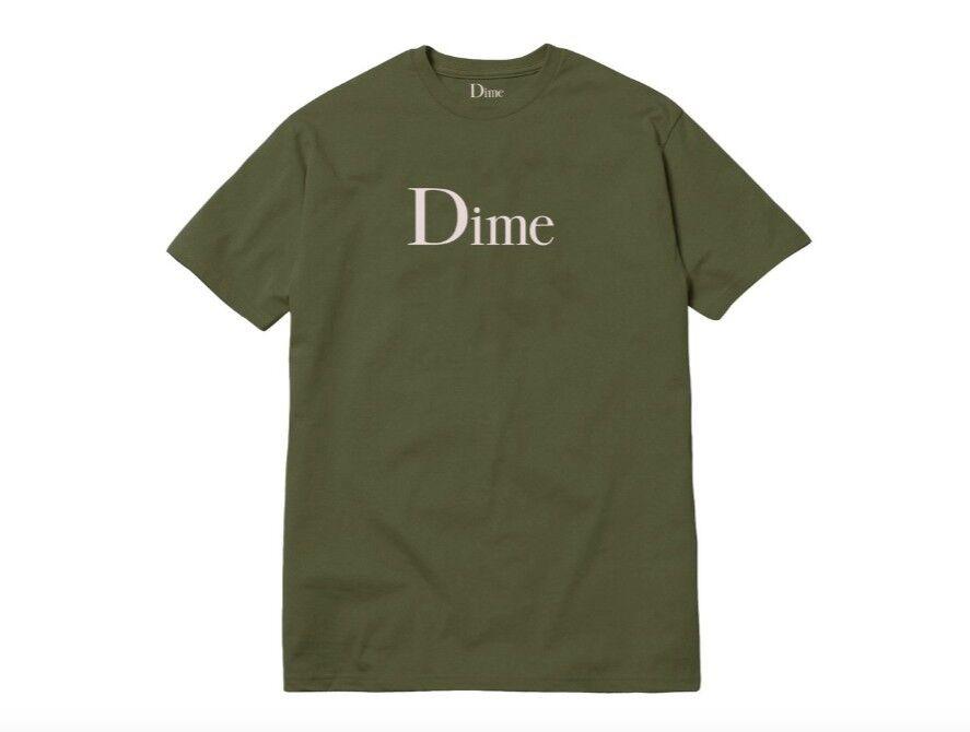 Dime Classic Logo T-Shirt   Green   Medium   Fall 2018 Drop   Authentic In Hand