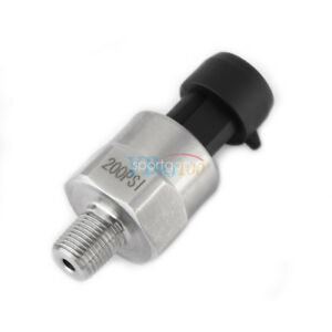 Pressure-Transducer-Sensor-Sender-0-4-5V-Stainless-Steel-for-Oil-Fuel-Gas-200PSI