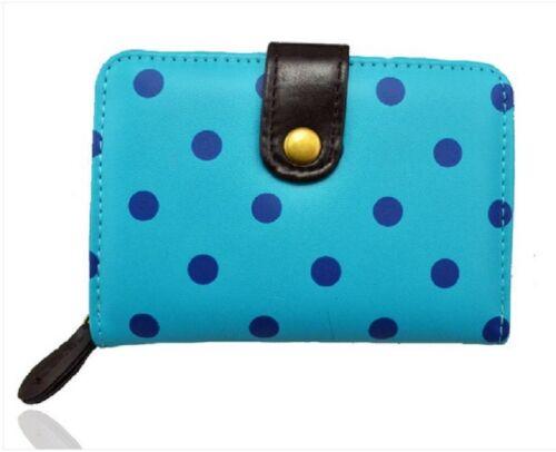 Ladies Women/'s Fashion Quality Polka Dot Purse Wallet Coin Present Gift Bag Chic