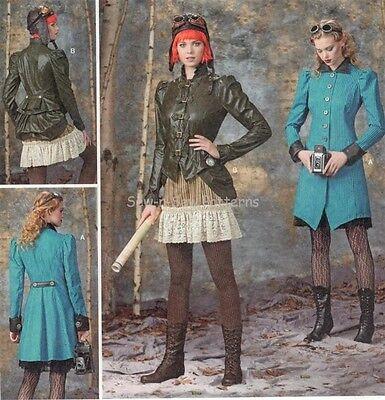 Simplicity 1299 UNCUT PATTERN 14-22 Victorian/Steampunk Coat Jacket Bustle Skirt