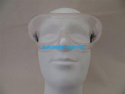 Kunststoff Vollsichtbrille aus farblosem CA Material antibeschlag EN166//169 CE #