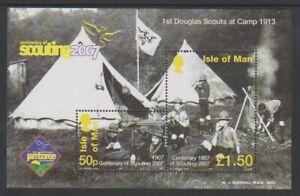 Ile-de-Man-2007-Scoutisme-Garcon-Scouts-Logo-Feuille-MNH-Sg-MS1380