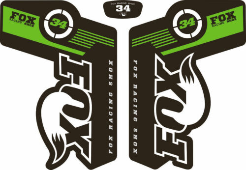 FOX 34 Forks Suspension Factory Style Decal Kit Sticker Adhesive Set Green