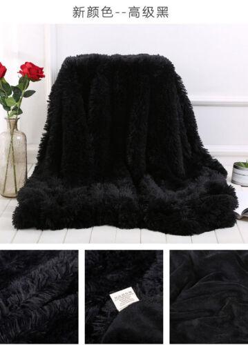 Bedspread Large Luxury Mink Warm Throw Over Bed Soft Blanket Sleeping Sofa plush
