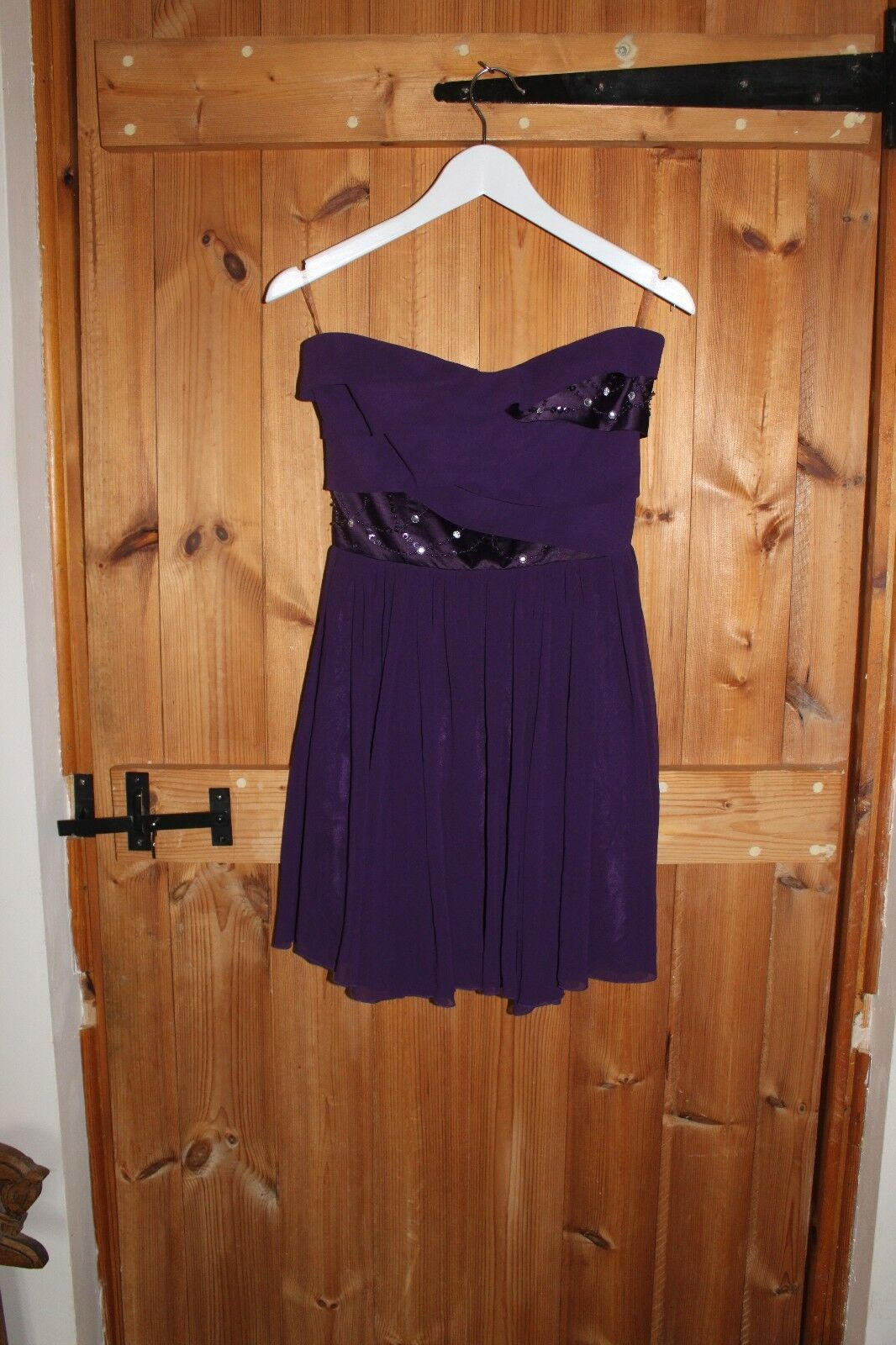 Lipsy of London Size 10 Purple Strapless Ladies dress party evening summer