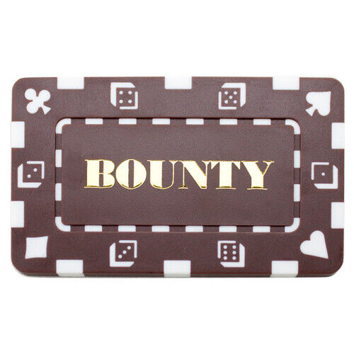 Buy 3 Get 1 Free 10 Brown BOUNTY 32g Rectangular Square Poker Chips Plaques