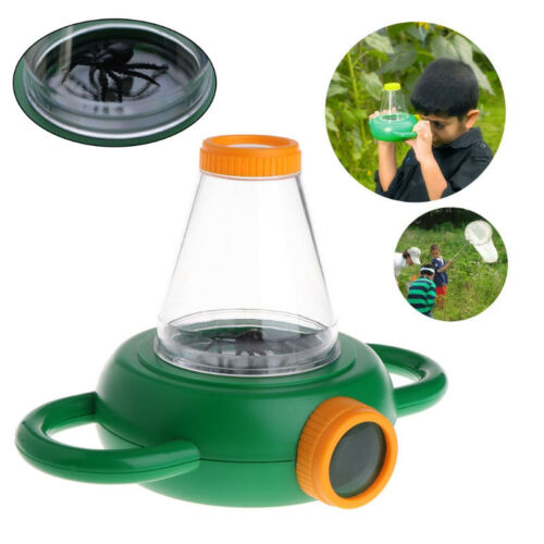 Two-Way Insect Viewer Box Bug Catcher Magnifier Microscope Box Creative Toys 9L
