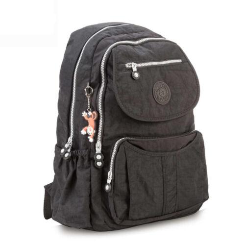 School Backpack for Teenage Girls Backpacks Women Solid Nylon Casual Laptop Bag