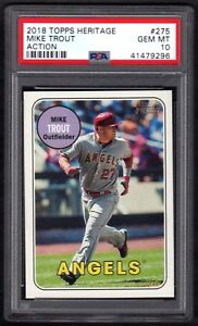 2018-TOPPS-HERITAGE-275-MIKE-TROUT-ACTION-PSA-10-GEM-MINT