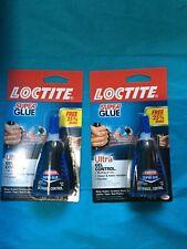 2 Loctite Ultra Gel Control Super Glue Clear 018 Oz Size 25 More Brand New