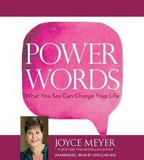 New Audio Book Power Words : What You Say Can Change Your Life Joyce Meyer CDs