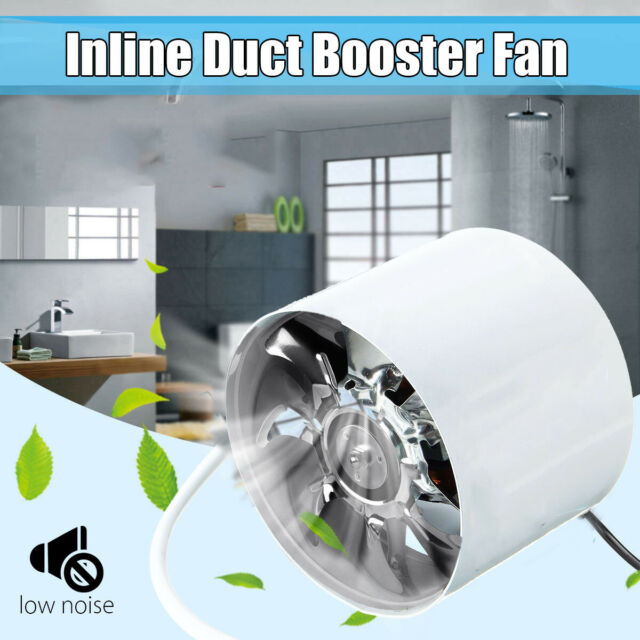 """4/"""" Inch Duct Booster Inline Blower Vent Fan Cooling Exhaust Plastic Blade"""
