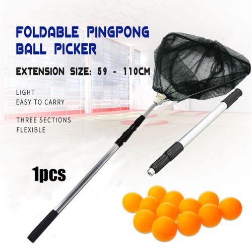 Telescopic 3 Section Extendable Aluminium Pole Table Tennis Ball Picker Net/'