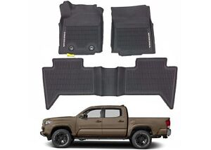 Details About Oem Pt908 36164 20 All Weather Floor Mats For 2016 2017 Toyota Tacoma Double Cab