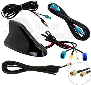 Shark-Fin-car-aerial-DAB-FM-GPS-Roof-Mount-antenna-SMB-CT27UV83-AUTODAB-Digital