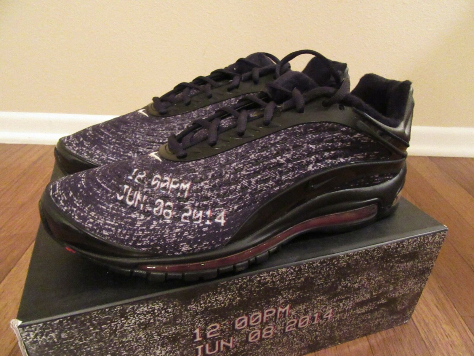 Nike Air Max Deluxe Skepta Size 11.5 Black Black Deep Red AQ9945 001 New NIB