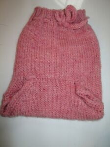 Hand knit diaper cover in white and pink 100 /% Wool