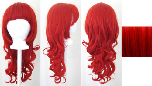 24/'/' Wavy Roll Cut Red Synthetic Cosplay Wig NEW