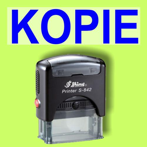 KOPIE Shiny Printer Schwarz S-842 Büro Stempel Kissen Blau