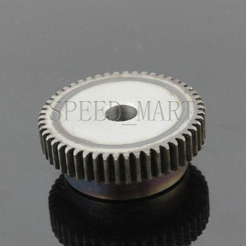 2 X 1M-50T 8mm Bore Hole 50 Teeth 50T Module 1 Motor Metal Gear Wheel Top Screw