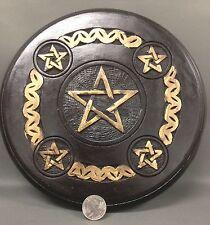 "5 Pentagram Wood Altar Tile 8"" Celtic Pentacle Wicca Pagan Ritual Knot"