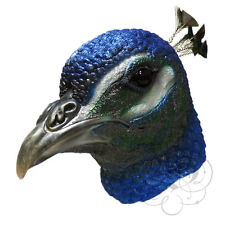 NEW ! Latex Animal Realistic Peacock Bird Cosplay Fancy Dress Carnival Masks