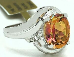 GENUINE-3-37-Carats-AZOTIC-TOPAZ-amp-DIAMONDS-14k-White-Gold-RING-FREE-APPRAISAL