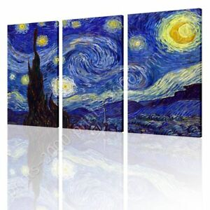 Starry-Night-by-Vincent-Van-Gogh-Ready-to-hang-canvas-3-Panels-Wall-art