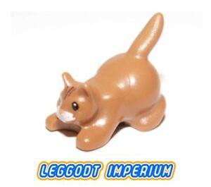 LEGO-Minifigure-Animal-Cat-medium-flesh-crouching-FREE-POST