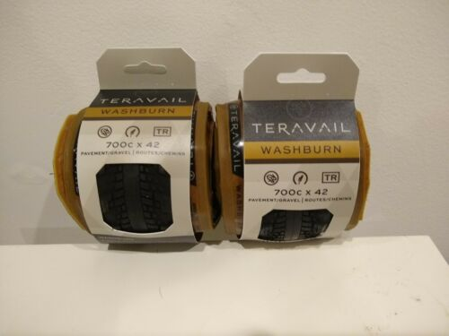 700c x 42c Teravail Washburn tubeless tires Light and Supple casing tanwall
