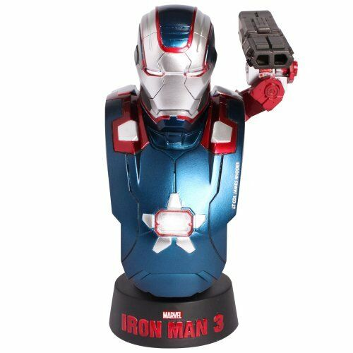 NEW HOT TOYS BUST Iron Man 3 IRON PATRIOT 1/6 Bust Figure from Japan