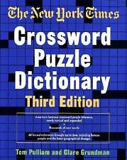 The New York Times Crossword Puzzle Dictionary, Third Edition Puzzles & Games R