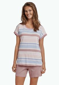 kurzer Schlafanzug Pyjama 2 Farben 100 /% Baumwolle Sportlicher Damen Shorty