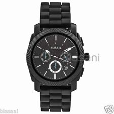 Fossil Original FS4487 Men's Machine Black Silicone Watch 45mm
