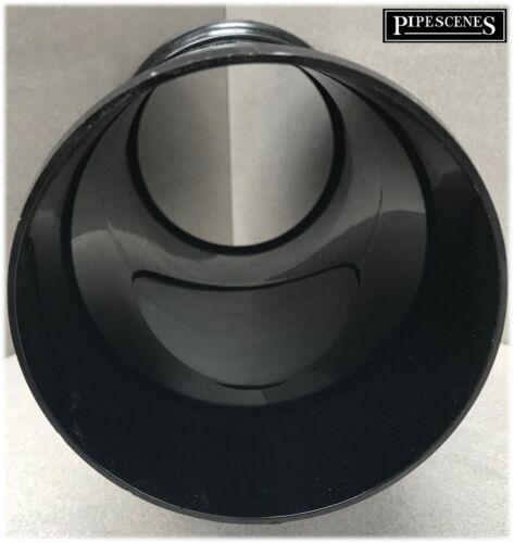 Soil Pipe Access Rodding Point Inspection Eye 110mm Black Single Socket