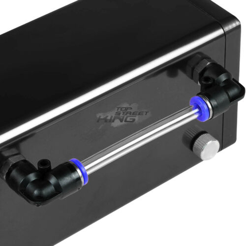 SQUARE STYLE BILLET ALUMINUM ENGINE GAS CATCH RESERVOIR BREATHER TANK//CAN BLACK
